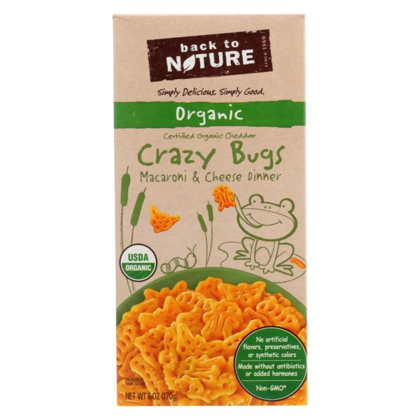 Back To Nature Crazy Bugs Macaroni Cheese 6 oz - Case Of 12