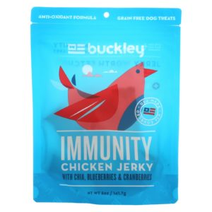 Buckley Natural Dog Treats - Chicken Jerky - 5 oz - Case Of 6