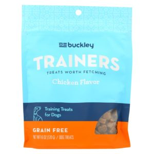 Buckley Natural Dog Treats for Training Chicken - 6 oz - Case Of 8