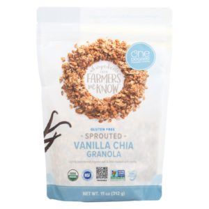 One Degree Organic Oat Granola - Vanilla Chia - 11 Oz  Case Of 6