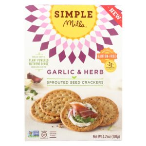 Simple Mills Sprouted Seed Crackers Garlic Herb The GreenLine Market