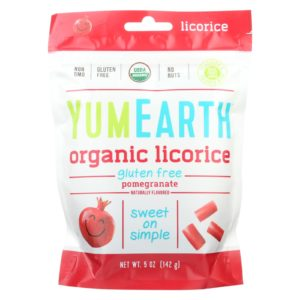 YumEarth Organic Soft Pomegranate Licorice 5 oz - Case Of 12