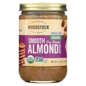 Woodstock Organic Almond Butter Smooth Unsalted The GreenLine Market