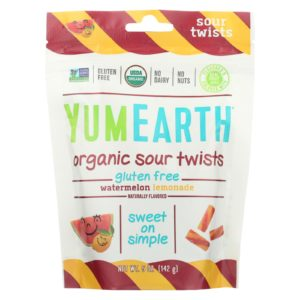 YumEarth Sour Twists Watermelon Lemonade 5 oz - Case Of 6