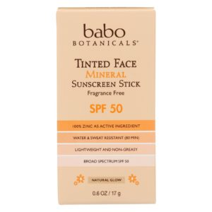 Babo Tinted Face Sunscreen Stick Mineral Spf 50 The GreenLine Market