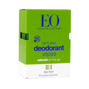EO Natural Deodorant Wipes Tea Tree 6 Ct - 12 Pack - The GreenLine Market