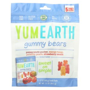 YumEarth Organic Gummy Bears 0.7oz - Case Of 12