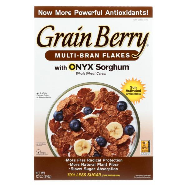 Grain Berry Antioxidants Multi-Bran Flakes Cereal 12oz - 6 Pack - The GreenLine Market