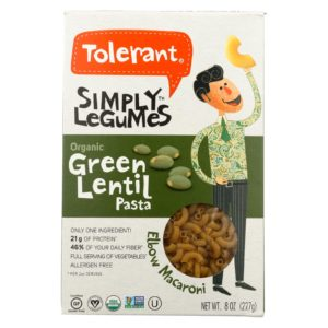 Tolerant Green Lentil Bean Pasta Elbows The GreenLine Market