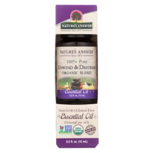 Nature's Answer Organic Essential Oil Unwind Destress The GreenLine Market