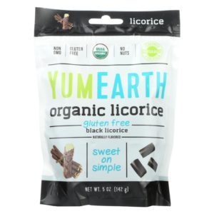 YumEarth Organic Licorice Black Soft 5oz - Case Of 12
