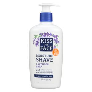 Kiss My Face Shave Cream Lavender Shea 11oz
