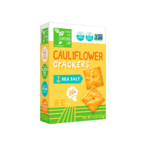 From The Ground Up Cauliflower Crackers Sea Salt 4oz - 6 Pack