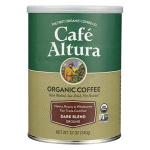 Cafe Altura Organic Fair Trade Dark Blend Coffee The GreenLine Market