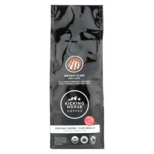 Kicking Horse Organic Coffee Ground Grizzly Claw Dark Roast The GreenLine Market