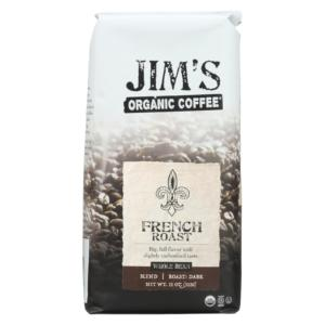 Jim's Organic Coffee Whole Bean French Roast The GreenLine Market