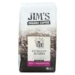 Jim's Organic Coffee Whole Bean Espresso Jimbo The GreenLine Market
