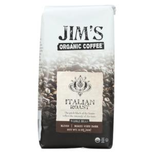 Jim's Organic Coffee Whole Bean Italian Roast The GreenLine Market