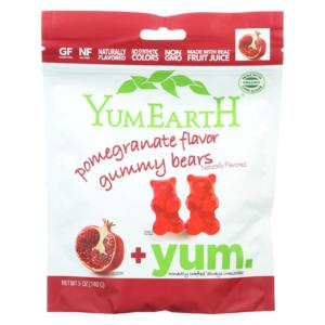 Yumearth Organic Gummy Bears Pomegranate 5oz - Case Of 12