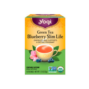 Yogi Tea Green Tea Blueberry Slim Life 16 Bag - 6 Boxes