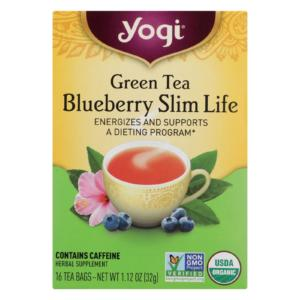 Yogi Tea Green Blueberry Herbal Slimming - Case Of 6