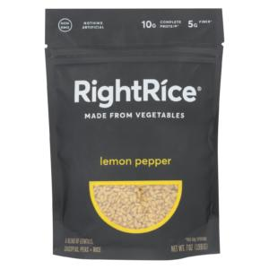 Right Rice Lemon Pepper Made From Vegetables 7oz - Case Of 6