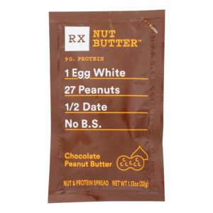 RX Nut Butter Chocolate Peanut Pouch 1.13oz - Case Of 10 - The GreenLine Market
