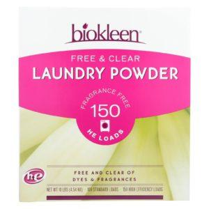 Biokleen Laundry Detergent Powder Free & Clear 10 Lb - The GreenLine Market