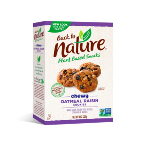 Back To Nature Cookies Chewy Oatmeal Raisin 8oz - 6 Pack - The GreenLine Market