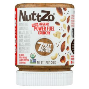 Nuttzo Seven Nut Seed Butter Power Fuel Crunchy - Case Of 6 - 12 Oz - The GreenLine Market