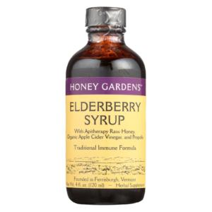 Honey Gardens Elderberry Syrup Traditional Immune Formula 4oz
