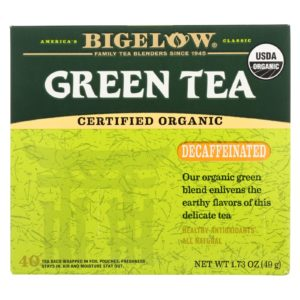 Bigelow Tea - Organic Green Tea Decaffeinated 40 Bags - 6 Boxes - The GreenLine Market