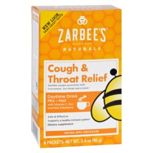 Zarbee's Cough And Throat Relief Daytime Drink Mix - 6 Packets