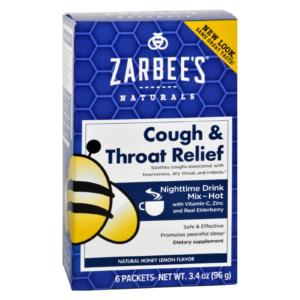 Zarbee's Cough and Throat Relief Nighttime Drink Mix - 6 Packets