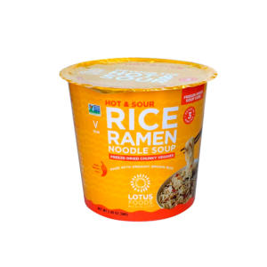 Lotus Foods Rice Ramen Noodle Soup Hot and Sour 2.05oz - 6 Pack - The GreenLine Market
