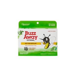 Quantum Health Buzz Away Extreme Towelettes 12 Ct - The GreenLine Market