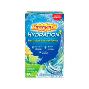 Emergen-C Hydration+ Sports Drink Mix Lemon Lime 18 Packs - The GreenLine Market