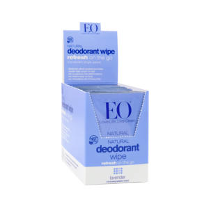 EO Natural Deodorant Wipes Lavender 1 Ct - 24 Pack - The GreenLine Market